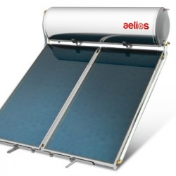 IQ Solar Aelios Ηλιακός Θερμοσίφωνας Glass Συλλέκτη ALS Βάση Κεραμιδιού Διπλήs Ενεργείαs